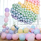 LAKIND Bunte Luftballons 100-Pack Latex Ballons Luftballons Bunt Latexballons für Hochzeit Weihnachten Geburtstag Luftballon Party Deko (100-PACK)