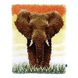 Vervaco PN-0150518 Knüpfteppich Elefant in der Savanne II