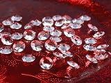 100 Stück Dekosteine Diamanten 1,2 cm kristall klar