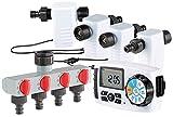Royal Gardineer Bewässerungcomputer: Bewässerungscomputer BWC-400 mit 4 Schlauch-Anschlüssen (Wasser Computer)