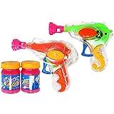 com-four 2er Set Seifenblasen-Pistole aus Kunststoff mit je 20 ml Seifenblasenwasser (02 Stück - Mix2)