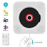 CD Player,VIFLYKOO Bluetooth wandmontierbar CD Radio Musik Player mit Fernbedienung, Eingebauter 2 HiFi-Lautsprecher, FM-Radio,MP3,3.5mm Kopfhörerbuchse für Kinder Student und Elder - Weiß