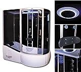 Home Deluxe ALL IN 4in1 Duschtempel, inkl. Dampfsauna und komplettem Zubehör (schwarz, rechts)