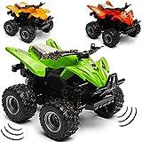 alles-meine.de GmbH Schwungrad Antrieb - Quad / ATV - Farb-Mix bunt - zum Aufziehen & Fahren - bewegliche Räder - aus Metall & Kunststoff - Spielzeugquad - Auto / Aufziehfahrzeug..
