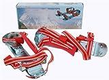Gleitschuhe mit Riemen 35 - 40, rot weiß