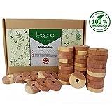 40x Natürlicher Mottenschutz aus Zedernholz / 100% Naturprodukt - Ohne Chemie / Erstklassiger Schutz gegen Motten, Insekten, Gerüche & Feuchtigkeit im Kleiderschrank