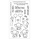 Blue Vesse Klarer Silikon Stempel DIY Scrapbooking Album Papierkarten Machen Dekoration Handstempel (Cartoon Elephant)