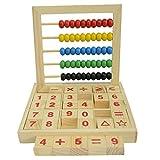 Bunt Hölzern Rechenrahmen Mathematik Spielzeug Abakus Zählrahmen Rechenschieber für Kinder Kid