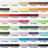 Jajasio Baumwoll Schrägband 25mm breit in 40 Farben, Einfassband Baumwolle Nahtband / Farbe: 40 - schwarz