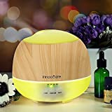 Aroma Diffuser 500ml InnooCare Luftbefeuchter Öl Ultraschall Düfte Humidifier Holzmaserung LED mit 7 Farben für Babies Kinderzimmer Haus, Auto, Wohnzimmer, Schlafzimmer, Büro, Yoga, Spa, Raum usw.