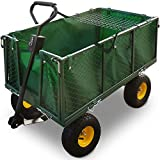 Deuba Bollerwagen  herausnehmbare Plane  bis 544kg belastbar - Handwagen Transportkarre Gartenkarre Gartenwagen Transportwagen
