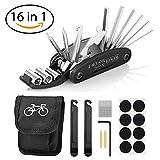 Migimi Fahrrad-Multitool, 16 in 1 Werkzeuge für Fahrrad Multifunktionswerkzeug Reparatur Fahrradwerkzeug Pocket Tool Fahrrad Multifunktions Werkzeug