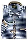 Orbis Trachtenhemd blau weiß XL