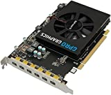 SAPPHIRE GPRO 6200 4GB GDDR5 PCI-E EYEFINITY 6 EDITION 1-slot active Fan w/ ball-bearing 50W 2xmDP to SL-DVI Passive Cable BROWN BOX