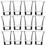 STAR-LINE 24 Schnapsgläser Glas 4cl Set | Shotgläser Pinnchen | Spühlmaschinenfest | Gläser für Vodka Tequila & Wodka - Stamper