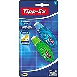 Tipp-Ex Korrekturroller Microtape Twist, mit drehbarer Schutzkappe, 8 m x 5 mm, Gehäusefarben 2-fach sortiert, Blister à 2 Stück