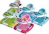 IB-Style - Babywalker 'Little World' 3 in 1 Gehfrei und BabyschaukelLauflernhilfe mit Spielfunktion - nach Europäischen Sicherheitsstandards EN 1723:2005 in rosa