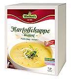 Werner´s Kartoffelsuppe - instant - Großgebinde, 4 x 0,5 kg in einem Karton, entspricht: 4 x 21 Portionen, glutenfrei, laktosefrei, fettarm, für Vegetarier geeignet, 1 Portion: (250 ml) = 57 kcal!