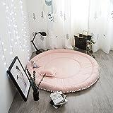 JYSPORT Baby Spieldecke Spielbögen Activity Gym Krabbeldecke Plush Spielzeuge Matte (Pink Circle)
