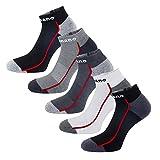 Aaronano 5er Pack Herren Hälfte Cush Terry Quarters Socken Laufsocken Running Socks Sportsocken mit verstärkter Frotteesohle - Größe (5.5-11 UK/38-46 EU)-stoßabfedernd schützend
