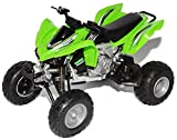 Kawasaki KFX 450R Grün Quad 2012 1/12 New Ray Modell Motorrad mit individiuellem Wunschkennzeichen