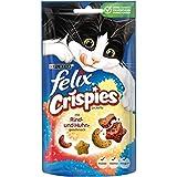 Felix Crispies Katzensnack, Rind und Huhngeschmack, 8er Pack (8 x 45 g)