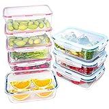 ENVEL Lebensmittellagerung mit Deckel, Glasbehälter sets, Kunststoff-Getreidespender, luftdichtem, auslaufsicherem Easy Snap Lock und BPA-freiem Kunststoffbehälterset für die Küche 8 Teile