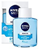 Nivea Men Sensitive Cool After Shave Fluid, 0% Alkohol, 3er Pack (3 x 100 ml)