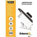 Fellowes 5312901 A4 Laminierfolien (80 Mikron) im praktischen 250er Value Pack