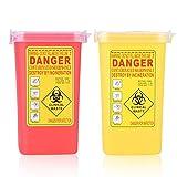 Sharps Container - Nadel-Entsorgungscontainer, Tätowierung Biohazard-Nadel Sharps Plastikbehälter-Entsorgungsbehälter 1l Größe (Farbe : Yellow)