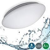 B.K.Licht LED Badezimmerleuchte, Badezimmerlampe, Deckenleuchte, IP44 spritzwassergeschützt, weiß