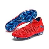 PUMA Herren Future 19.1 Netfit FG/AG Fußballschuhe, Rot (Red Blast-Bleu Azur), 43 EU