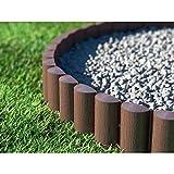 Cellfast ECO Rasenkante Palisade, braun, 8 Stück: 2,4 x 0,3 m Gartenpalisade Raseneinfassung Beetumrandung (28,8m)