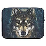 Wolf Canvas Paintings 13-15 Zoll Laptop Sleeve Tasche - Tablet Clutch Tragetasche, wasserdicht, schwarz