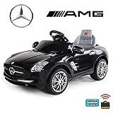 *2x Motoren* Original Mercedes-Benz AMG SLS Lizenz Kinderauto Kinderfahrzeug (SCHWARZ)