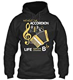 Bequemer Hoodie Damen / Herren / Unisex - S - Without the Button Accordion