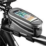 Mozione Fahrrad Rahmentasche - Praktische Fahrradtasche geeignet für Handys bis 5,5 Zoll - wasserdichte Oberrohrtasche zur sicheren Befestigung am Rahmen