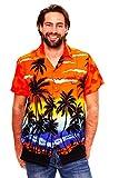 Funky Hawaiihemd, Beach, Orange, M