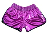 Kanong Muay Thai Kick Boxen Women Hosen Shorts : KNSWO-401-Purple-S
