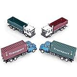 GPTOYS Transport Auto 1/60 Skala Friction Powered Truck Spielzeug für Kinder (1 LKW der zufälligen Farbe Senden)