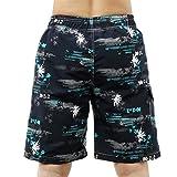 Männer Hawaiian Strand Shorts Surf Wear Gedruckt Palm Board Shorts (M, Blau)