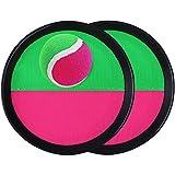 Toyvian Klettballspiel Catch Ball Set - 2 Schläger + 1 Ball, Kinder Spaß im Freien Spiel