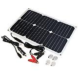 ALLPOWERS Solar Batterie Maintainer 18V 12V 18W Solar Auto Boots Energien Verkleidungs Batterieladegerät Betreuer für Automobil, Motorrad, Traktor, Boots, Batterien