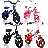 Stimo24 Laufrad Kinderrad (MIT BREMSEN) / Fahrrad / Lernlaufrad in 4 (Blau)