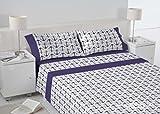 Mehr Relax Bradford Bettwäsche, aus Polycotton, Blau, 280x 240x 3cm