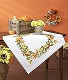 Kamaca Stickpackung WALDZAUBER Spannstich Stielstich Plattstich Nadelmalerei vorgezeichnet aus 100% Baumwolle Stickdecke 80 cm x 80 cm zum Selbersticken Herbst Winter