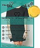 8 Blatt Premium A4 T-Shirt Transferfolie für DUNKLE UND FARBIGE Textilien / Stoffe zum Aufbügeln - inkl. 50+ GRATIS Motiv-Vorlagen - Transferpapier geeignet für alle Inkjet Tintenstrahldrucker