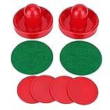 Air Hockey Pushers, Kunststoff Leichte Goalies Eishockey Pusher Pucks Set Ersatz für Tabellen Spiel(M 76mm)