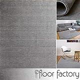 floor factory Gabbeh Teppich Karma grau 200x290 cm - handgefertigt aus 100% Schurwolle