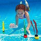 ulooie 3PCS Unterwasser Kinder Erwachsene Schwimmen sinkend Tauchen Pool Fisch Tank Kunststoff Seaweed Ball Spielzeug